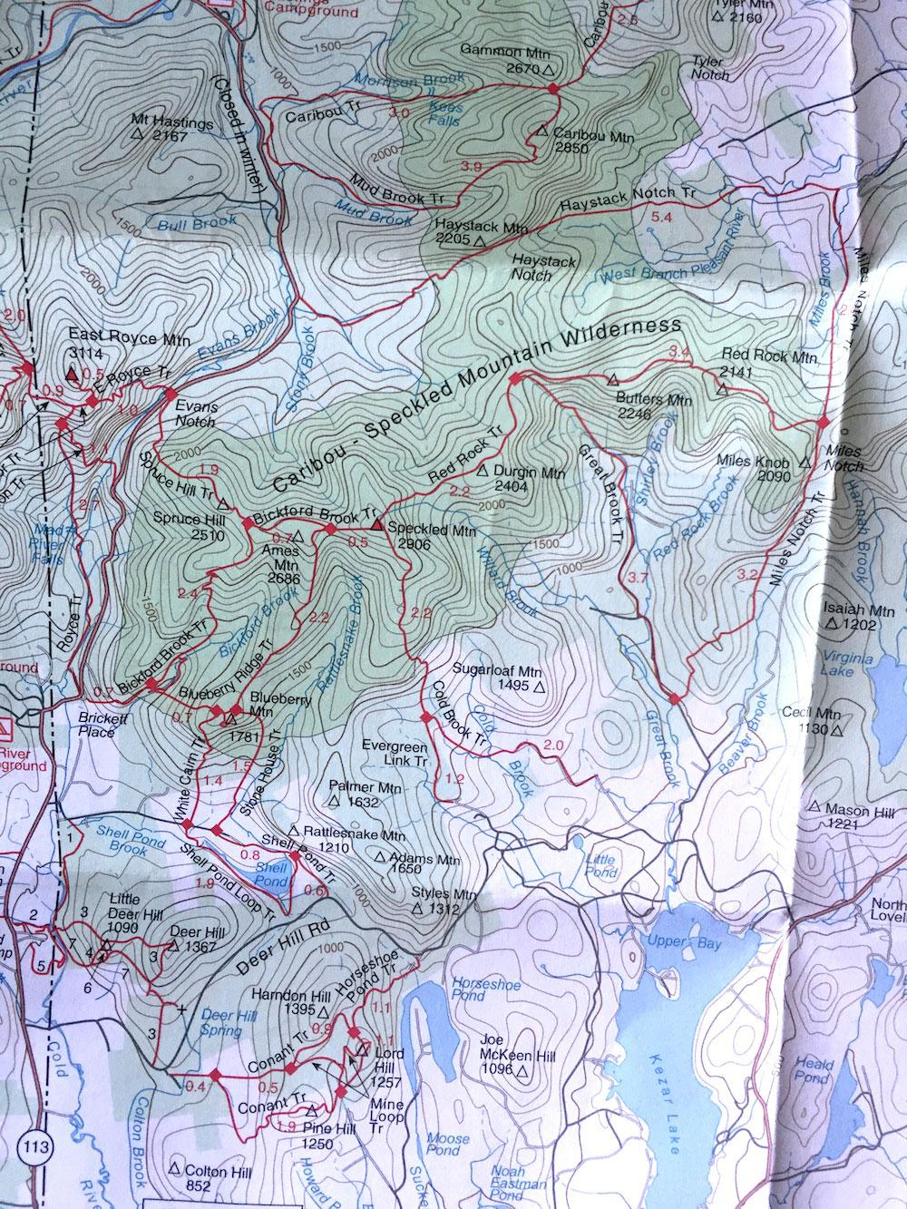 Blueberry Mountain and Rattlesnake Pool, White Mountain National ...
