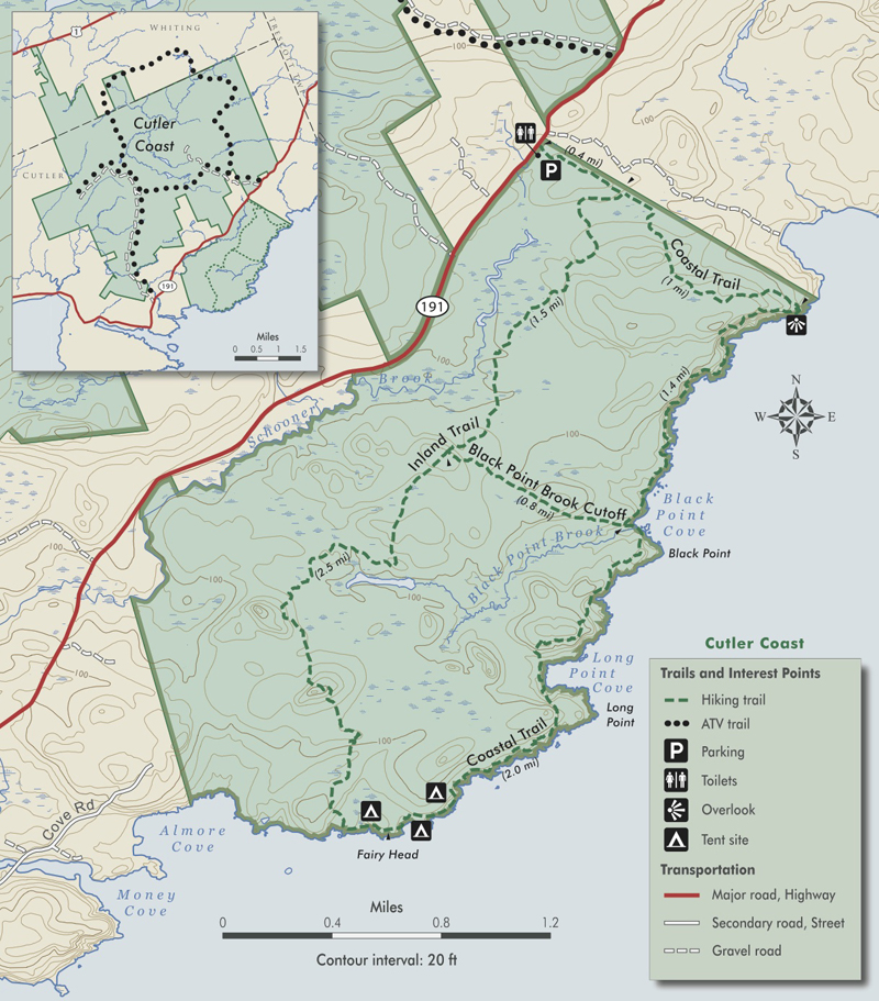 Maine by foot cutler coast public reserved land bold coast trail cutlercoastmap publicscrutiny Images