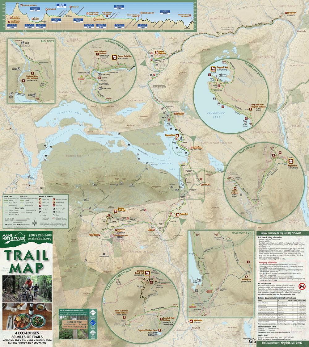 maine huts and trails map Maine Huts And Trails Carrabassett Valley Region Maine By Foot maine huts and trails map