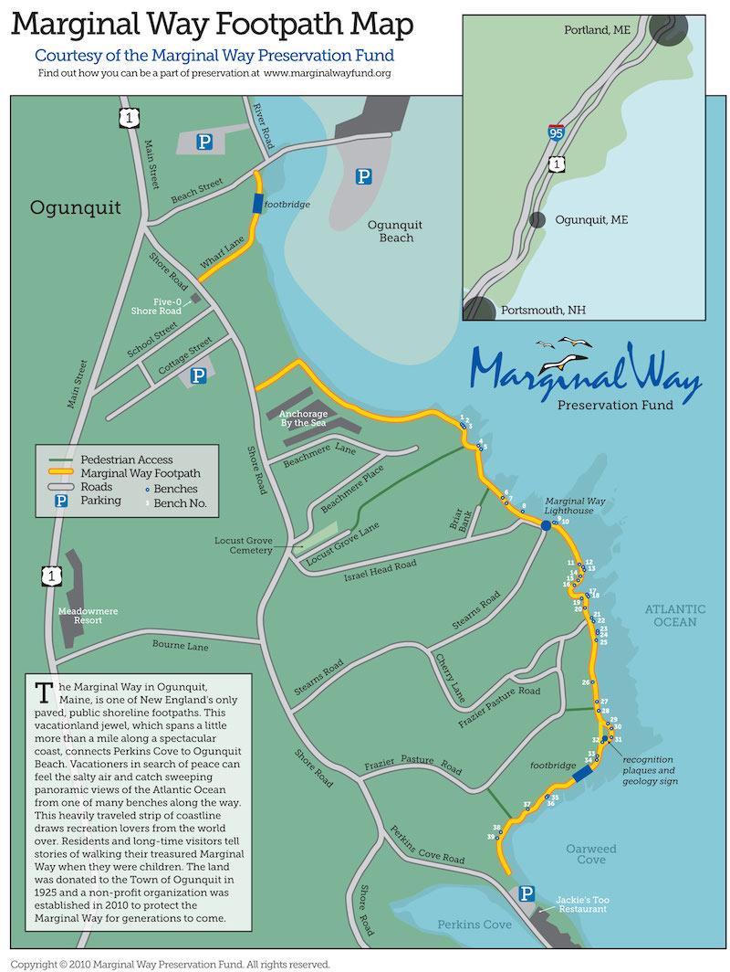 Marginal Way Cliff Walk Ogunquit Maine By Foot
