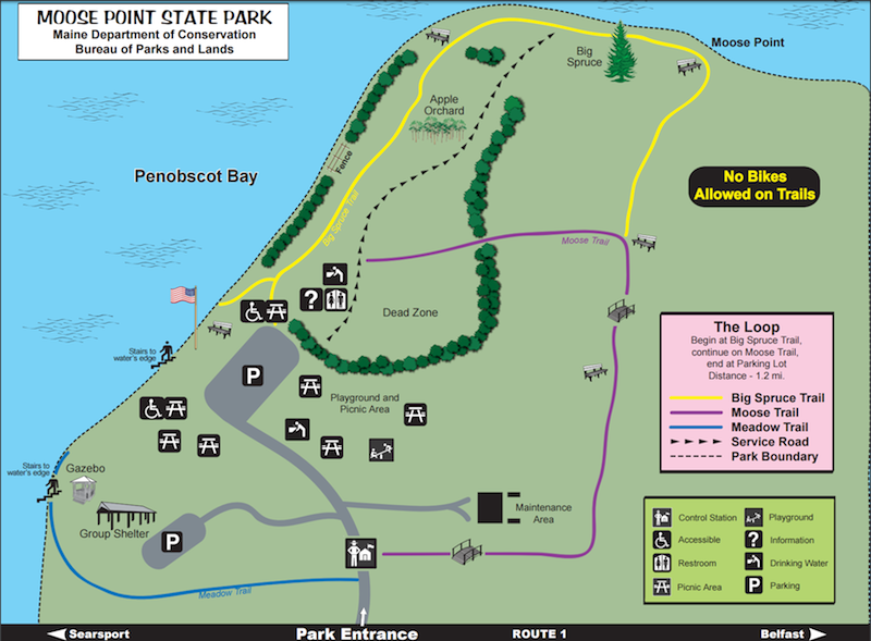 Moose Point State Park Searsport Maine By Foot