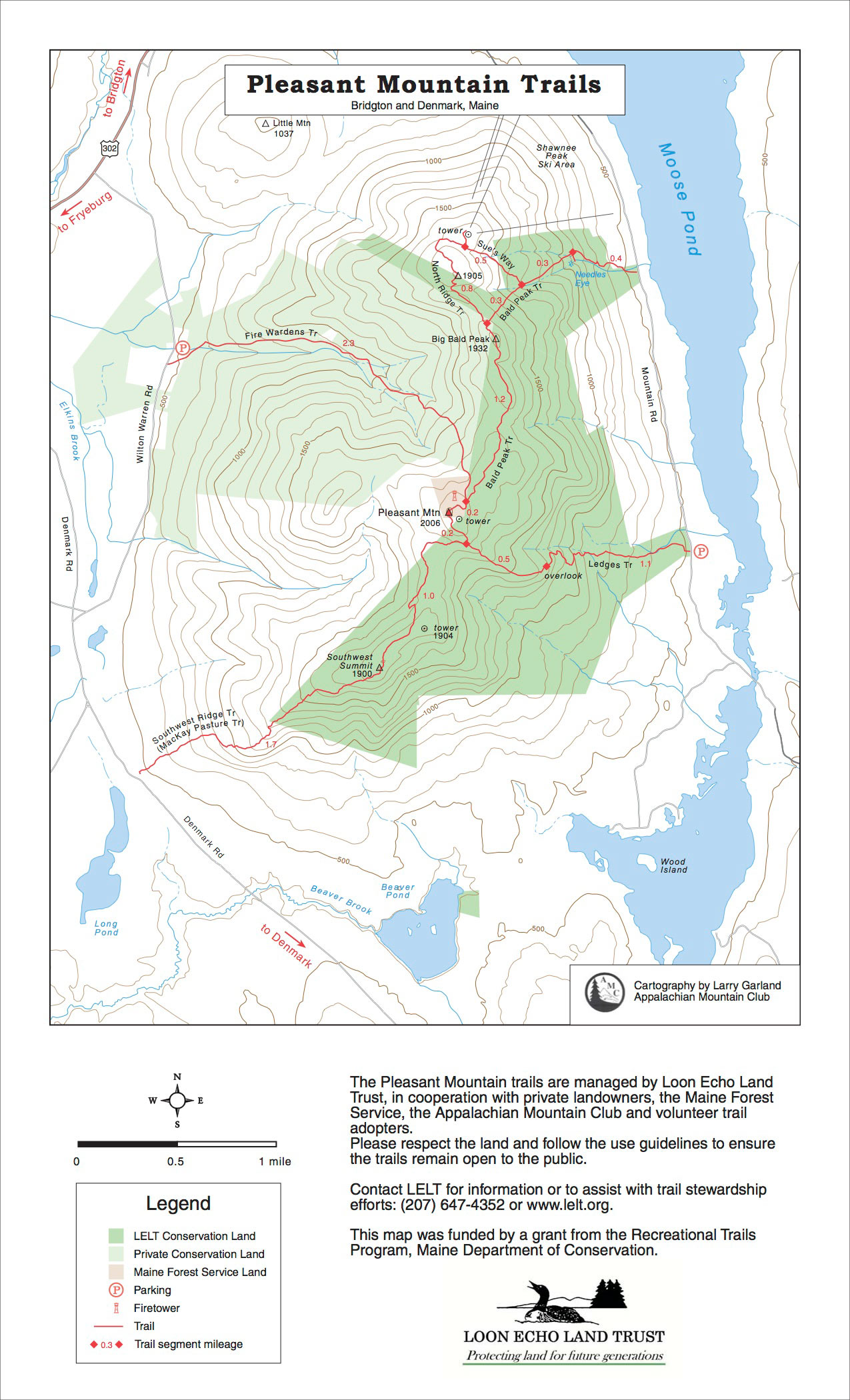 Pleasant Mountain, Denmark and Bridgton   Maine by Foot