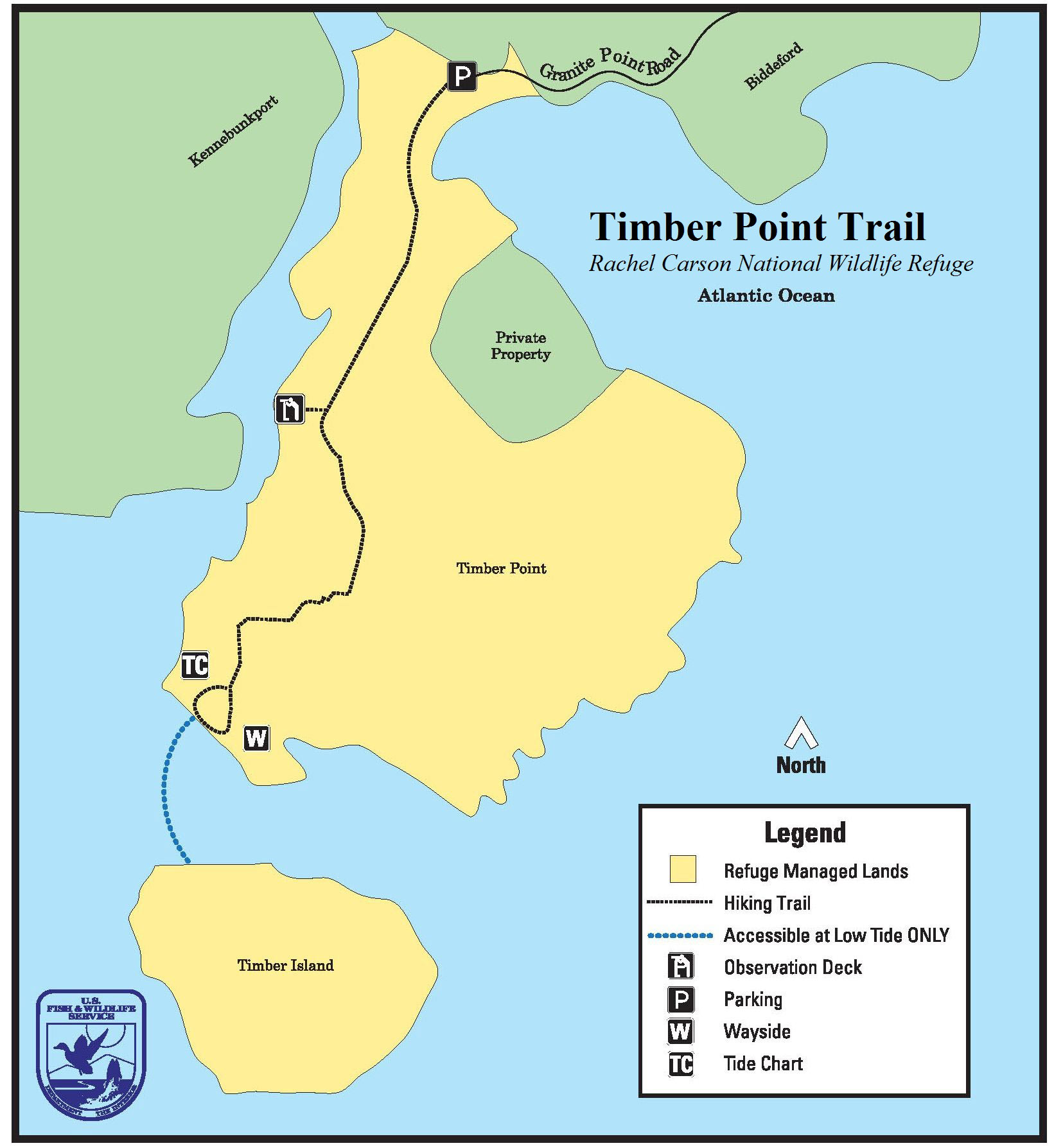 Maine by foot timber point trail biddeford timberpointmap nvjuhfo Gallery